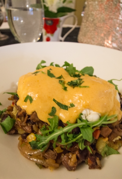 Braised Beef Hash with Chipotle Hollandaise Sauce